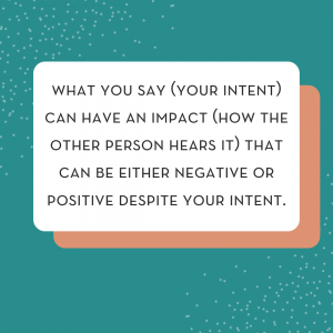 what is the difference between intent vs impact