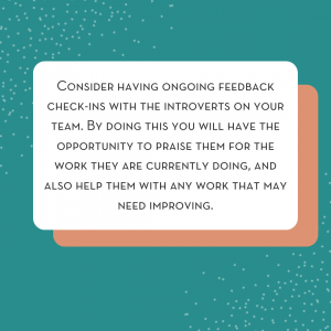 how to encourage introverts on your team