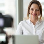 using confident body posture on video calls