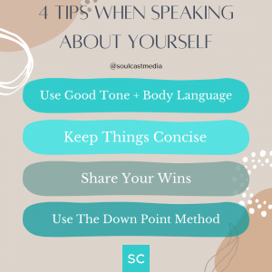 confidently speak about yourself with these 4 tips