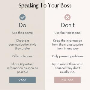 speaking to your boss the 4 power pillars